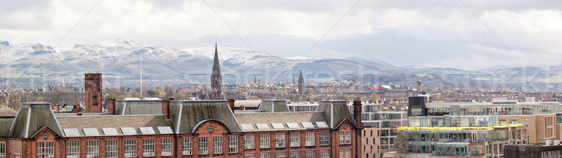Panorama of Edinburgh Skylines Stock photo © vichie81