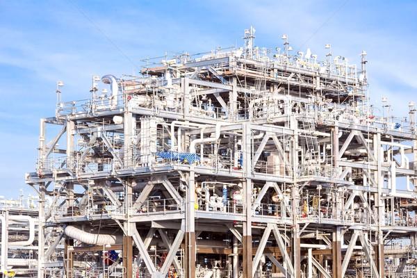 очистительный завод завода Природный газ хранения цистерна нефть Сток-фото © vichie81