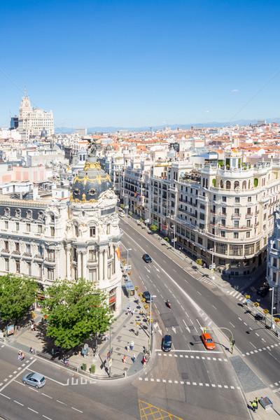 Gran Via Madrid Spain Stock photo © vichie81