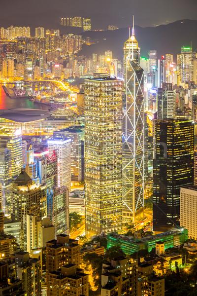 Aerial Hong Kong Skyline Stock photo © vichie81