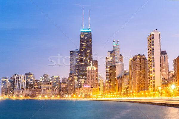 Chicago at dusk Stock photo © vichie81