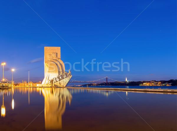 Descubrimiento Lisboa Portugal edificio viaje estatua Foto stock © vichie81
