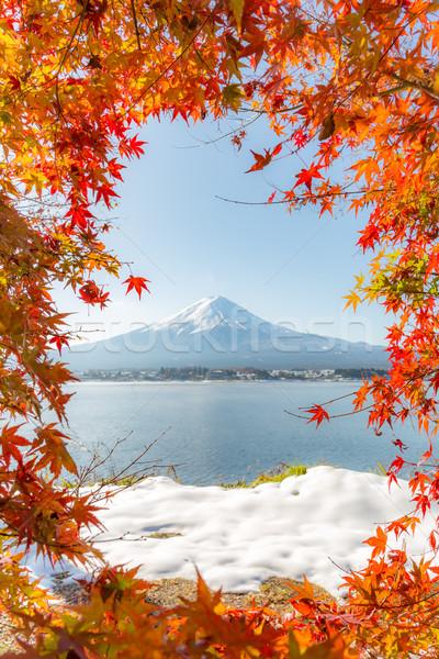 Fuji jesienią jezioro śniegu rzeki japoński Zdjęcia stock © vichie81