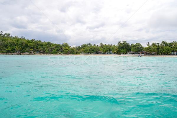 şnorkel nokta phuket güzel ada gökyüzü Stok fotoğraf © vichie81
