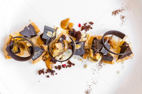 Chocolate tart Stock photo © vichie81