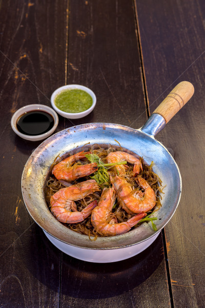 Steamed Shrimp with vermicelli Stock photo © vichie81