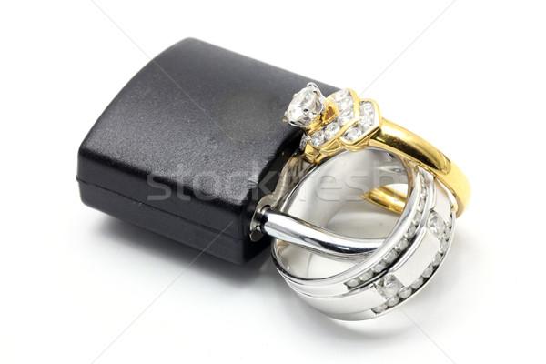 Ring liefde samen voor altijd paren luxe Stockfoto © vichie81