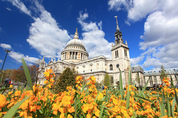 St. Paul Cathedral with Garden Stock photo © vichie81