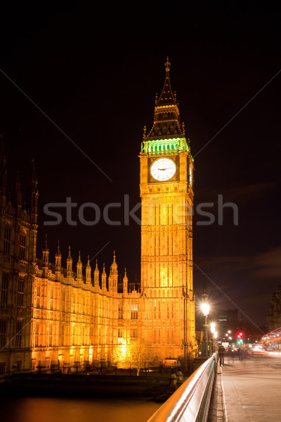 Big Ben and Westminster Bridge Stock photo © vichie81