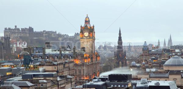 Edinburgh Panorama Stock photo © vichie81