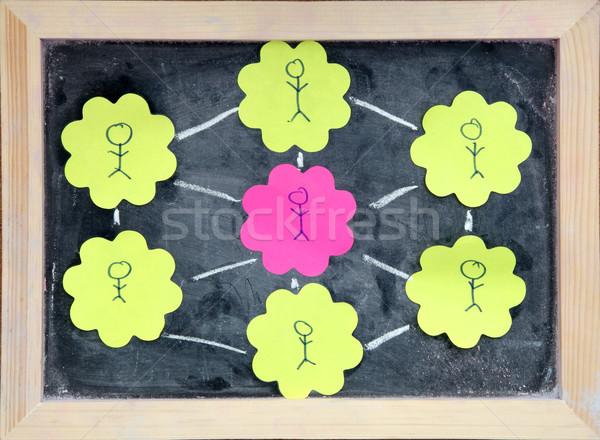 social network education Stock photo © vichie81