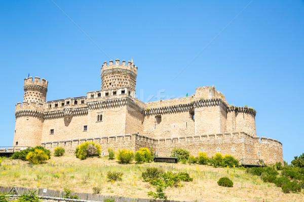 Zamek Madryt Hiszpania podróży banderą kamień Zdjęcia stock © vichie81
