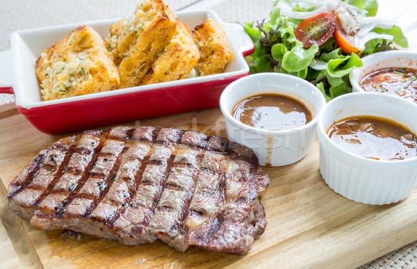 wagyu rib-eye beef steak  Stock photo © vichie81
