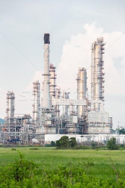 Olajfinomító növény füst ipar olaj erő Stock fotó © vichie81