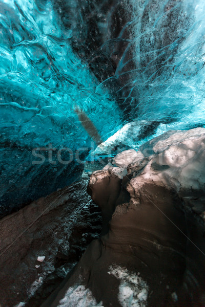 Ijs grot IJsland gletsjer water natuur Stockfoto © vichie81