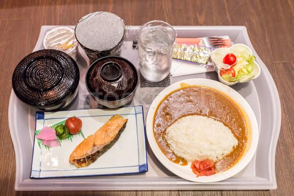 日本語 カレー コメ 鮭 水 ディナー ストックフォト © vichie81