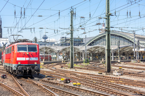 Forens trein Duitsland Rood station Stockfoto © vichie81