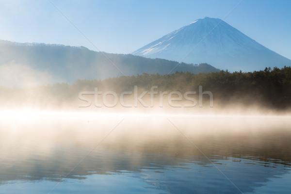 Górskich fuji zimą Świt jezioro wody Zdjęcia stock © vichie81