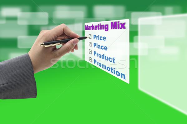 Business Marketing mix Concept Stock photo © vichie81