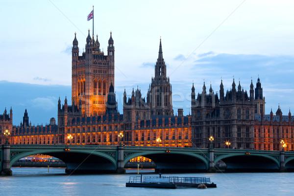 башни дома парламент Лондон город Вестминстерский Сток-фото © vichie81