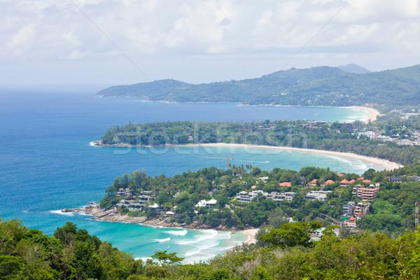 Tropikal plaj manzara tropikal phuket Stok fotoğraf © vichie81