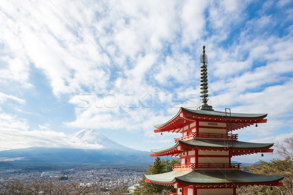 Red pagoda with Mountain Fuji Japan Stock photo © vichie81
