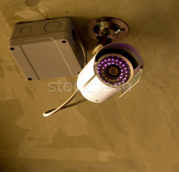 Cctv éjszaka biztonsági kamera televízió videó áramkör Stock fotó © vichie81