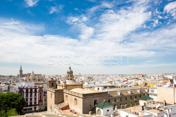 Seville cityscape Spain Stock photo © vichie81