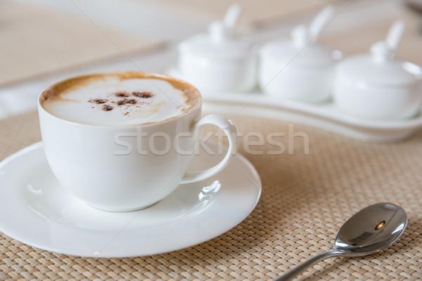 Koffie witte beker voedsel drinken Stockfoto © vichie81