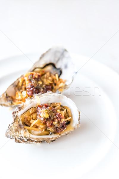 fresh oyster Stock photo © vichie81