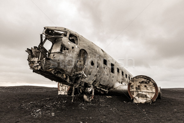 Plane Wreck Iceland Stock photo © vichie81