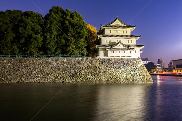 Castelo Japão noite edifício viajar outono Foto stock © vichie81