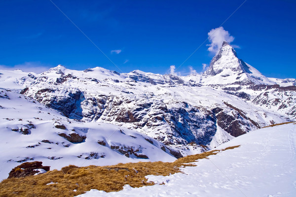 Matterhorn peak Alp Switzerland Stock photo © vichie81