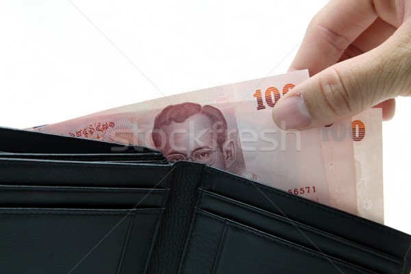 concept of pick up money from wallet Stock photo © vichie81