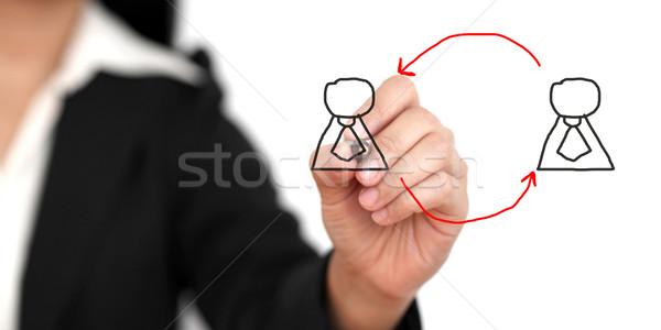 Trabalho rotação negócio mão escrita recrutamento Foto stock © vichie81
