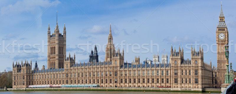 Panorama of Big Ben London Stock photo © vichie81