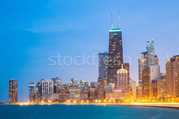 Chicago centrum meer Michigan stad schemering Stockfoto © vichie81