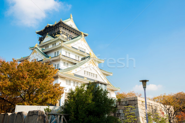 Osaka kale sonbahar Bina seyahat park Stok fotoğraf © vichie81