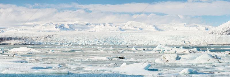 Glacier Islande panorama eau nature neige Photo stock © vichie81