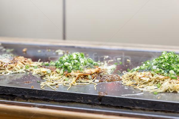 cooking of okonomiyaki Stock photo © vichie81