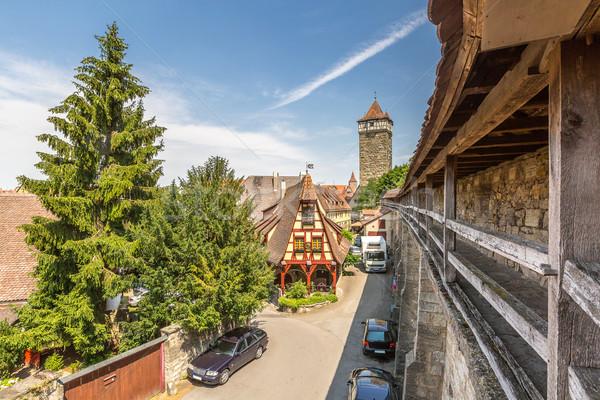 historic town of Rothenburg ob der Tauber Stock photo © vichie81