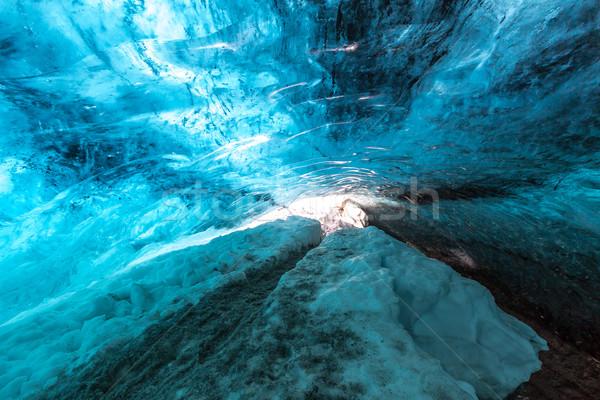 льда пещере Исландия ледник природы горные Сток-фото © vichie81