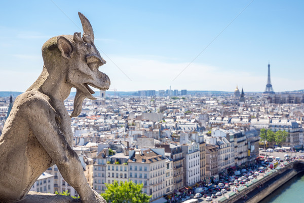 Gargoyle at Notre Dame Stock photo © vichie81