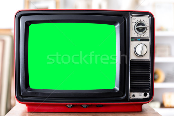 Vintage Red Television Stock photo © vichie81