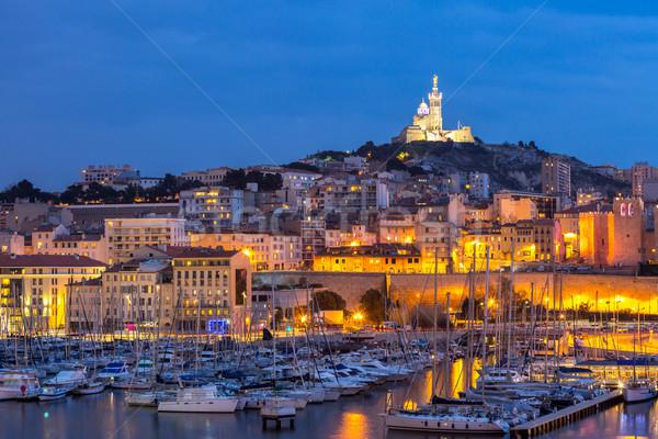 Marseille France night Stock photo © vichie81