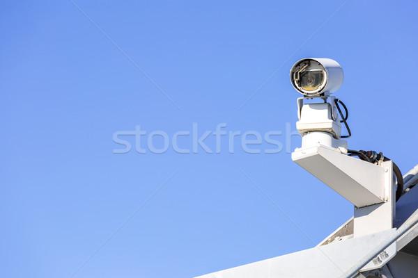 Cctv 防犯カメラ 青空 テレビ 技術 ビデオ ストックフォト © vichie81