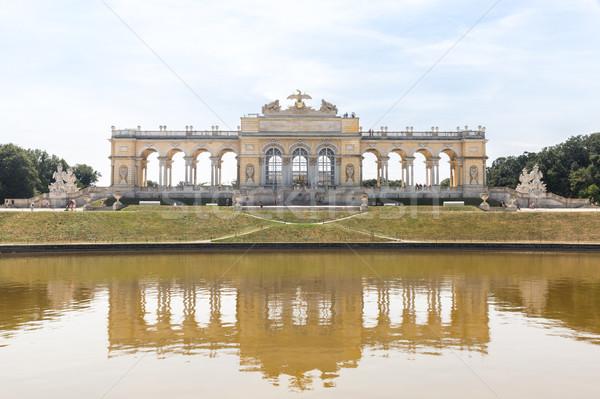 Pałac ogród Wiedeń Austria budynku architektury Zdjęcia stock © vichie81