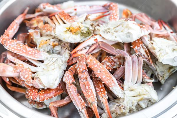 Crab bufet linie alimente fundal Imagine de stoc © vichie81
