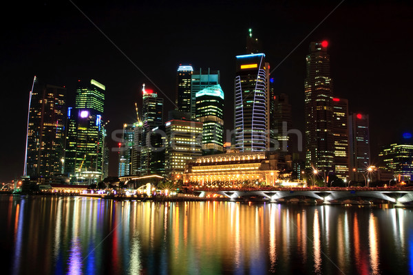 landscape of skyscraper in Singapore business district Stock photo © vichie81