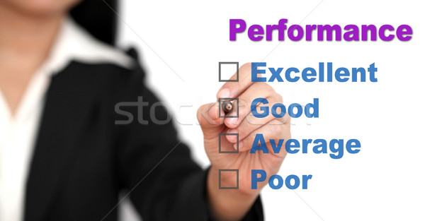 business performance checklist Stock photo © vichie81